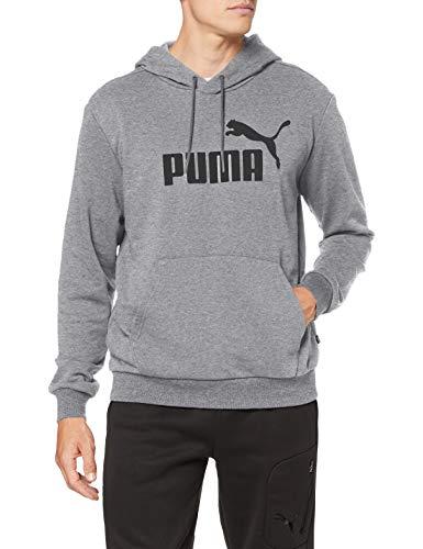 PUMA Herren ESS Hoody TR Big Logo Sweatshirt, Medium Gray Heather, 17-22