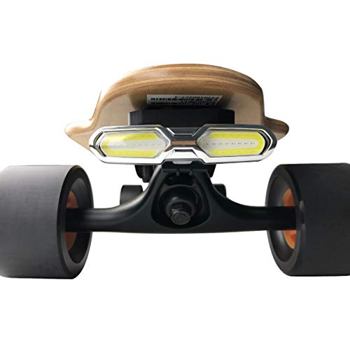 IWONDER V3.0 Skateboard Lights Longboard USB Rechargeable Lights Super Bright Led Head and Tail Lights Outdoor Waterproof Flashing Safety Rear Lights