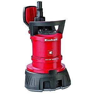 Einhell GE-DP 5220 LL ECO – Bomba de aguas sucias (520W, capacidad de 13500 l/h, profundidad max. de inversión 7m, conexión de manguera 47.8mm,, cuerpos extraños hasta 20 mm, interruptor de flotación)
