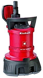 Einhell GE-DP 5220 LL ECO - Bomba de aguas sucias (520W, capacidad de 13500 l/h, profundidad max. de inversión 7m, conexión de manguera 47.8mm,, cuerpos extraños hasta 20 mm, interruptor de flotación)