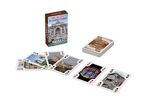 Dal Negro 23545 - Carte da Gioco Mini Poker Souvenir Roma, Astuccio Marrone