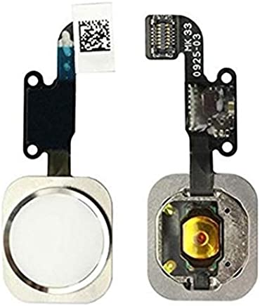 4uEnQ Home Button Menu Button Flex Cable (Without Touch ID) Compatible with Apple iPhone 6/6 Plus : White