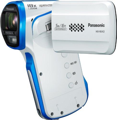 Panasonic HX-WA3EG-W Videocamera GHD Grandangolo 40 mm, iA18x EIS HDR, Bianco