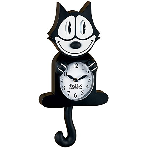 NJ CROCE COMPANY INC Authentic Cartoon Collectible Felix The Cat Wall Clock w/Moving Eyes & Tail