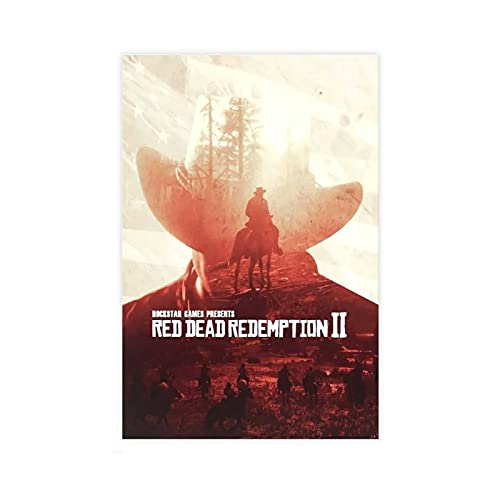 Game Poster Arthur Morgan Red Dead Redemption 2 Canvas Poster Bedroom Decor Sports Landscape Office Room Decor Gift 12×18inch(30×45cm)