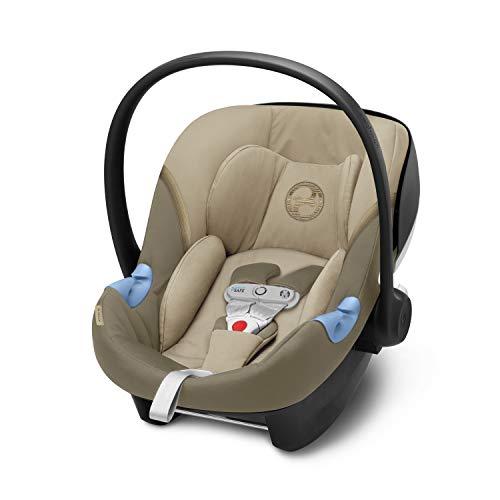 CYBEX Gold Seggiolino Aton M i-Size, Include SensorSafe, per Bambini da 45 cm a 87 cm, Max. 13 kg, Classic Beige