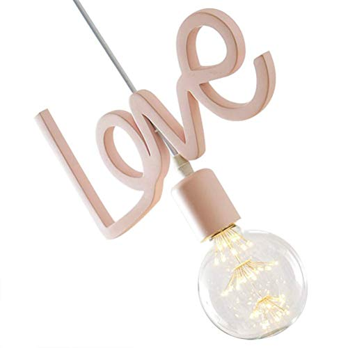GaLon Ledlamp, mooie hanglamp, romantische liefdesvorm, ijzer, kroonluchter voor eettafel, ramen, balkon, entree, slaapkamer, kind slaapkamer