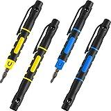 4 Piezas de Destornillador de Bolsillo Destornillador 4 en 1 Destornillador Portátil Multifuncional...