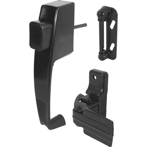 Prime-Line K 5071 Contemporary Push Button Latch, 1 Pack, Black