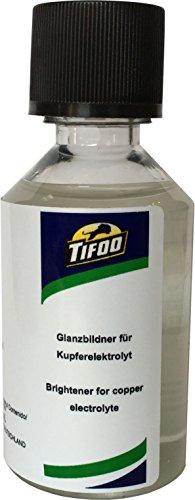 Glanzzusatz für Kupferelektrolyt (50 ml) - Galvanisch auf Hochglanz verkupfern – Tifoo Glanz Kupfer Elektrolyt Glanz Zusatz Nachfüllflasche