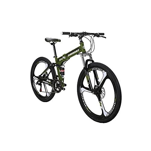 Eurobike G4 26 pulgadas bicicletas plegables Mag rueda bicicletas de montaña para adultos verde