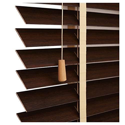 GUOWEI Jalousien, Holzläden Jalousette, Dekoration Fensterjalousie für Bar Studierzimmer Badezimmer, Wearable Leiterband, Anpassbar (Color : B, Size : 60X180cm)