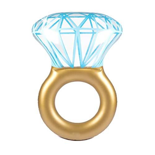 Anillo de diamante inflable flotador de piscina inflable anillo de diamante flotador flotante decoración de despedida de soltera para adultos y niños