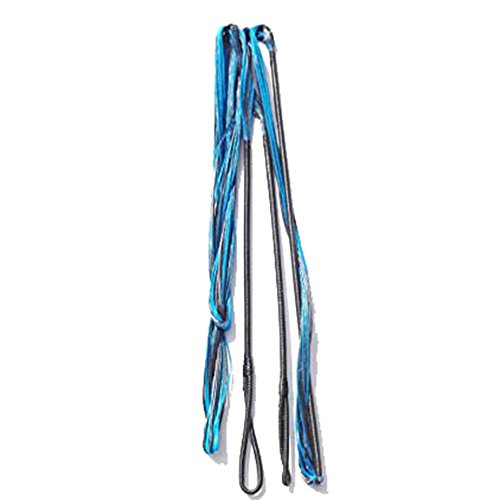 """ZSHJG Cuerda De Arco Hecha a Mano 16 Hilos De Cuerda para Arco Largo De 60-62 Pulgadas Recurva (azul2, 62""""/149cm)"""