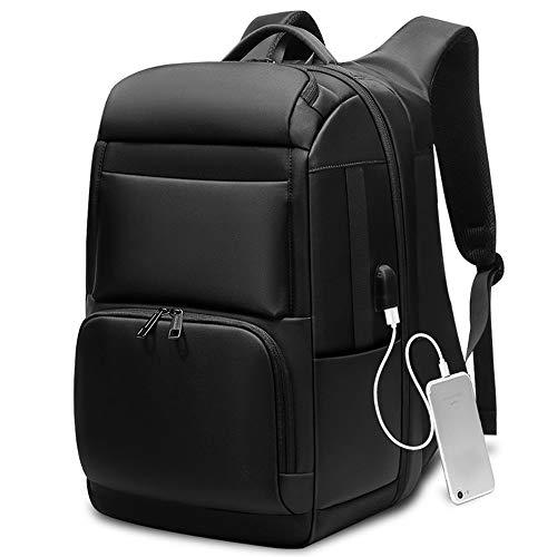 XinMeiMaoYi Mochila al aire libre multifuncional de los hombres negro mochila de gran capacidad de 17 pulgadas bolsa de viaje al aire libre bolsa de viaje externa USB puerto de carga 47 x 31 x 20 cm