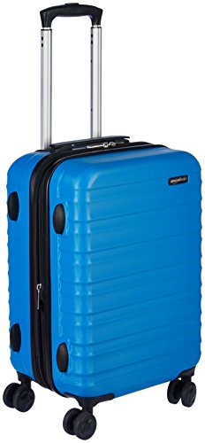 AmazonBasics Hardside Spinner, Carry-On, Expandable Suitcase Luggage with Wheels, 21 Inch, Blue