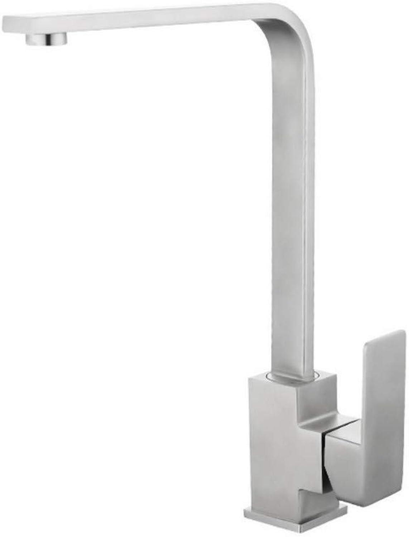 ROTOOY Chrome Square Küchenarmatur Waschbecken Mono Bloc Einhebel-Schwenkauslauf Messing Kalt Heimischer Wasserhahn