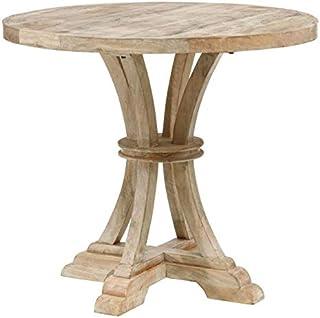 Tousmesmeubles Table de Repas Ronde Campagne Bois Clair - Kolding - L 85 x l 85 x H 76 - Neuf