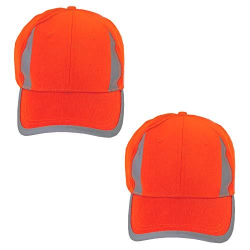 JORESTECH Safety Cap Reflective High Visibility Orange Unisex 2-Pack CAP-01