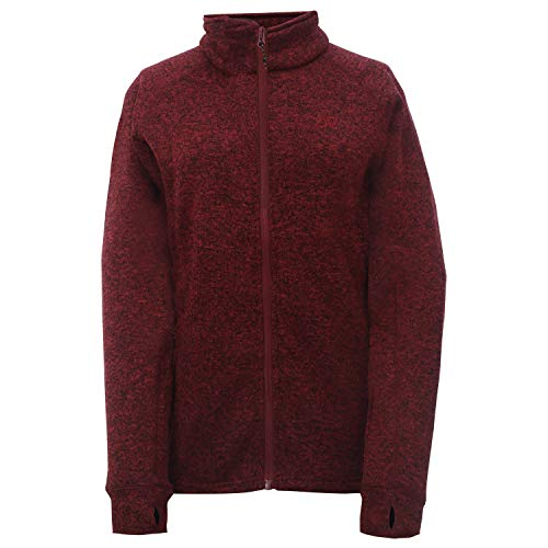 2117 of Sweden Damen Women's Flatfleece Jacket Nossen Fleecejacke Lila/Rot 40