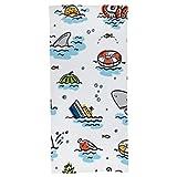 Cartoon Summer Sea Kids-Bath Towel Beach Towel-(Cotton-70cm x 140cm)