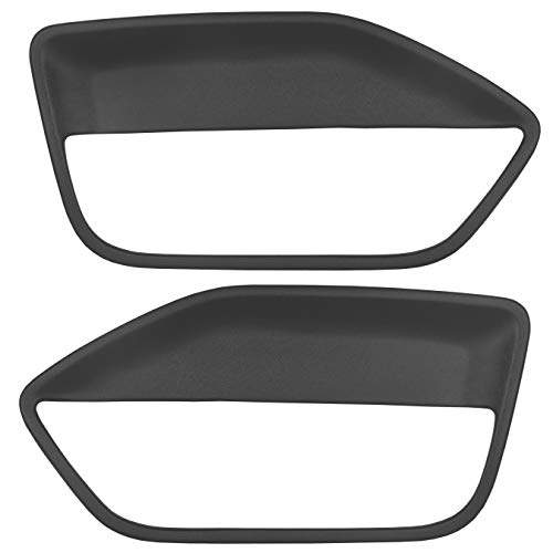 ECOTRIC Black Front Pair Door Panel Insert Card Cover Kit Compatible with 2005-2009 Ford Mustang (Left+ Right Side)