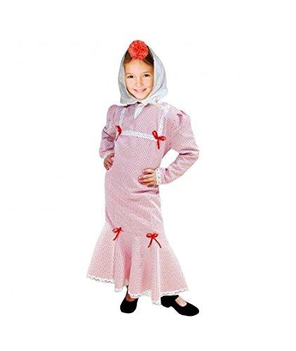 Disfraz Chulapa niña Blanco Lunar Rojo (4 años)
