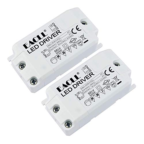 EACLL Lot de 2 transformateurs LED AC 240 V vers DC 12 V 850 mA 10 W Transformateurs pour ampoules LED MR11 G4 MR16 GU5.3