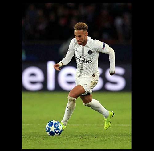 MGSHN Neymar Jr 10 Paris Saint-Germain PSG Barcelona póster de Futbolista Lienzo...