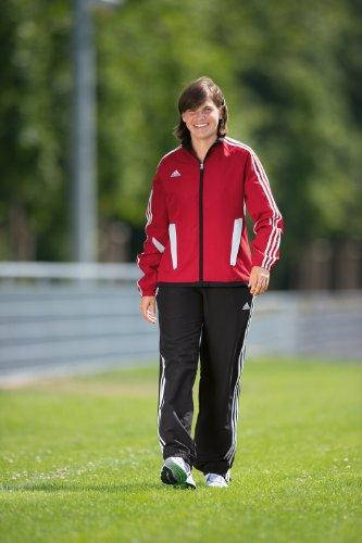 Adidas Tiro 11 Trainingspak voor dames, S rood