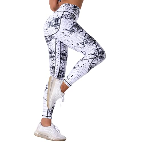 QTJY Pantalones de chándal de arcoíris, Pantalones de Yoga para Fitness, Leggings de Ejercicio elásticos de Color Hermoso, Pantalones de Yoga de Cintura Alta, Pantalones de Yoga D XL