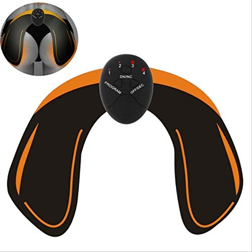VBNM Muskelstimulator Smart EMS Hips Trainer Elektrischer Muskelstimulator Drahtlose Gesäß Bauch Abs Stimulator Fitness Körper MassagegerätWeiß