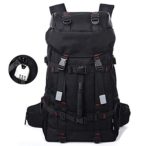 GAOHONGMEI 40L Travel Backpack, Knapsack Outdoor Mountaineering Traveling Casual High-capacity Bag Laptop Backpack for Outdoor Camping Trekking Tourist-black