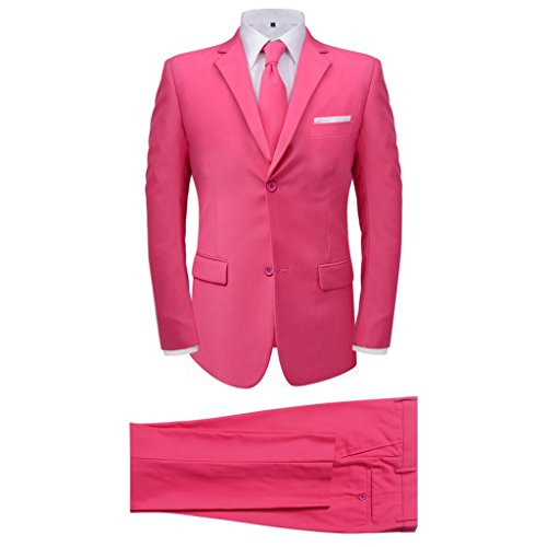 vidaXL 2tlg. Herrenanzug Business Anzug Jackett Krawatte Slim-Fit Hochzeit Gr.50