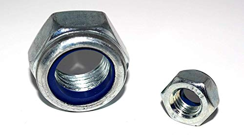Sechskantmuttern DIN 985 Feingewinde 5 Stück M14x1,5 mit Klemmteil Stahl verzinkt Klemmmutter Sicherungsmutter Stopmutter