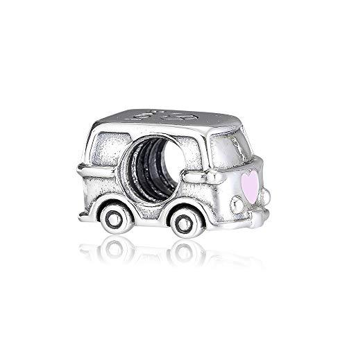 Joyas De Plata De Ley 925 para Mujer Cuentas De Dijes para Caravanas Que Se Adaptan A Pulseras Pandora Europeas Collares Fabricación De Joyas DIY