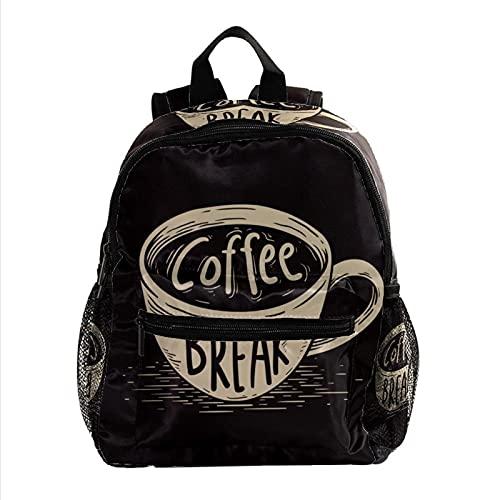 Kaffeetasse Leichter Kinderrucksack Kleinkind Kinder Schultasche Robuster, lässiger Buchrucksack für Mädchen und Jungen 25.4x10x30cm