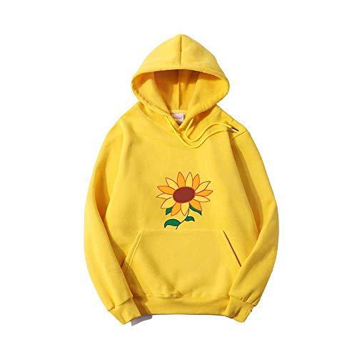 Wonder Egg Priority Ohto Ai Cosplay Hoodie Sonnenblume Tasche Gelb Dünn Trainingsanzug Casual Streetwear für Frauen Gr. Large, gelb