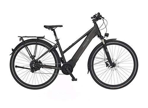 Fischer Damen - Trekking E-Bike VIATOR 6.0i, Elektrofahrrad, grau matt, 28 Zoll, RH 44, Brose Drive C Mittelmotor 90 Nm, 36 V Akku