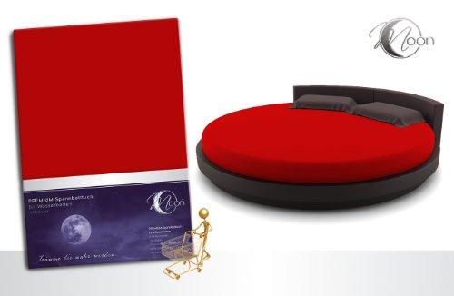Unbekannt Spannbettlaken RUND 245cm auch fürs Wasserbett 190g/m² Line Silver -rot