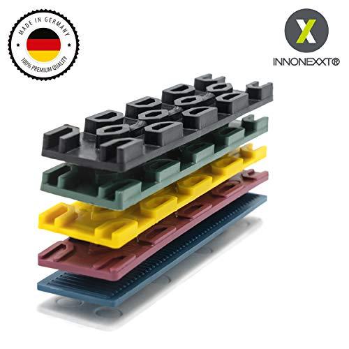 INNONEXXT® Premium Verglasungsklötze | 30 x 100 mm, 400 Stück | Unterlegplatten, Abstandhalter, Distanzhalter Kunststoff | Set: 1, 2, 3, 4, 5, 6 mm