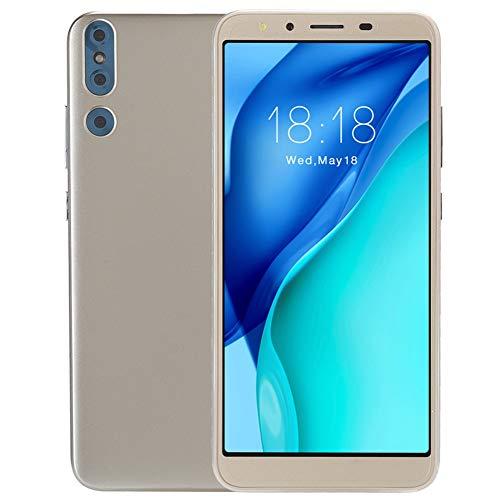 Goshyda Smartphone 3G, (5.0in 512MB + 4G) Pantalla de Alta definición Versión Internacional Tarjetas duales Smartphone 200w Pixels AI Smart Camera, para Sistema Android OS 4.4(Oro)