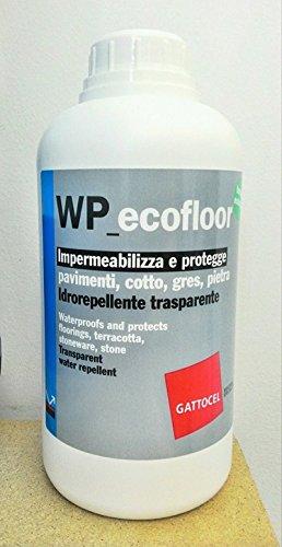 WP_ecofloor Impermeabilizza e protegge pavimenti, cotto, gres, pietra Idrorepellente trasparente ecologico - BOTTIGLIA DA 1 LT