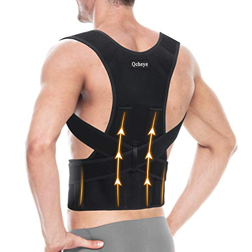 "Back Brace Posture Corrector for Men and Women - Shoulder Lumbar Adjustable Breathable - Improve Posture and Relieve Pain for Neck, Back and Shoulder S/M(26""-34"")"