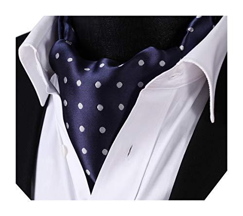 BIYINI Herren Polka Punkt Ascot Krawatte Taschentuch Jacquard Gewebte Krawatte
