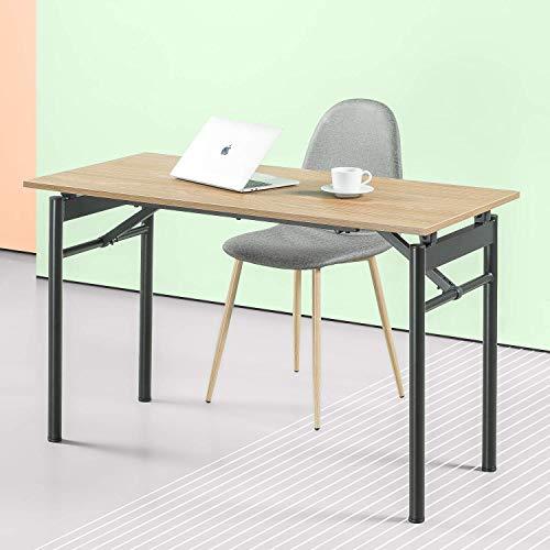 ZINUS Mare 119 cm Scrivania pieghevole in metallo nero con finitura idrorepellente | Tavolo pieghevole multifunzione |Postazione di lavoro da ufficio | Assemblaggio pari a zero