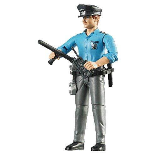 Bruder 60050 Minifigur-bworld Polizist mit hellem Hauttyp und Zubehör