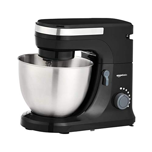 Lowest Prices! AmazonBasics Multi-Speed Stand Mixer with Attachments, Red (Renewed)