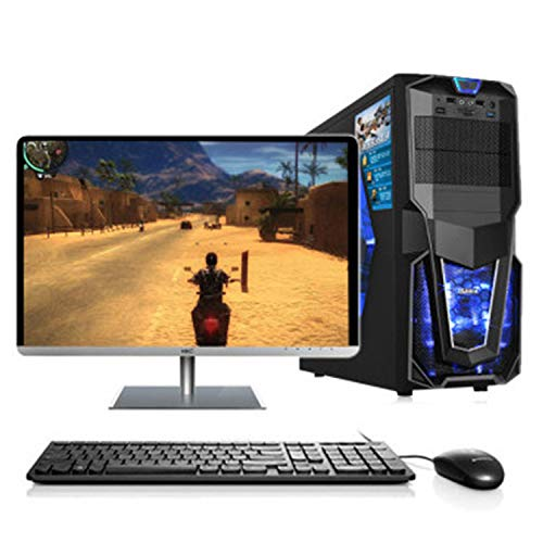 ZILLA Gaming Desktop Intel Core i5 3470s 2.9GHz 8GB Ram 120GB SSD 500GB Hard Disk 2GB GTX710 20 inch Full HD Monitor Keyboard Mouse WiFi