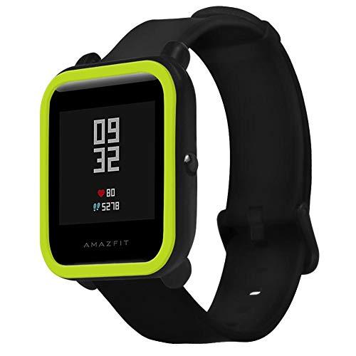 Protector Case Funda para Xiaomi Huami Amazfit Bip Smartwatch, Moda Slim Colorido Marco Caso Cubierta Proteger Shell, Protección de Silicona Suave TPU Smartwatch Protector para Younth Reloj Carcasa.